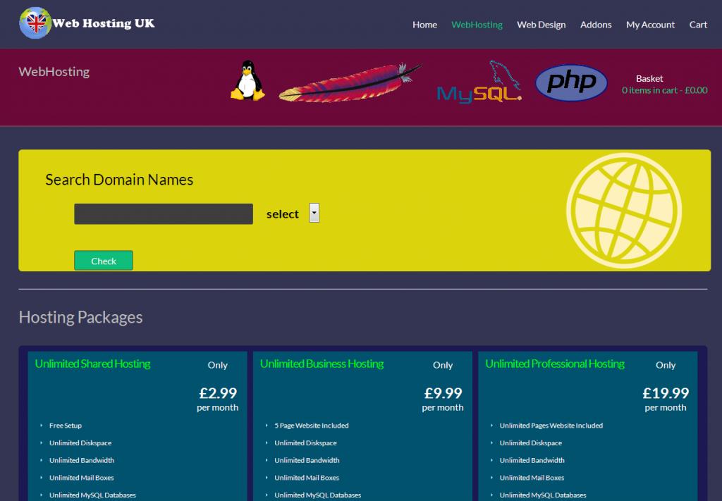 Web Hosting Plugin For WordPress